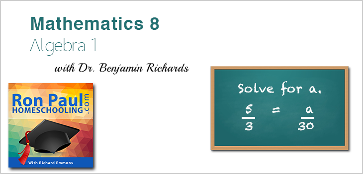 8th Grade Math: Algebra I with Dr. Benjamin Richards